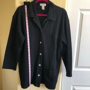 Jones New York S Sweatshirt Jacket Seashell Botton